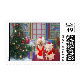 Christmas Labs Postage