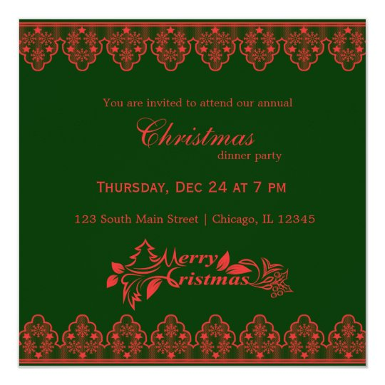Christmas Lace Card