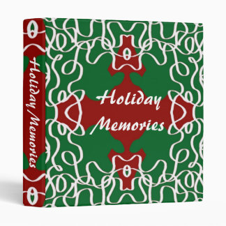 Christmas Lace Pattern 3 Ring Binder
