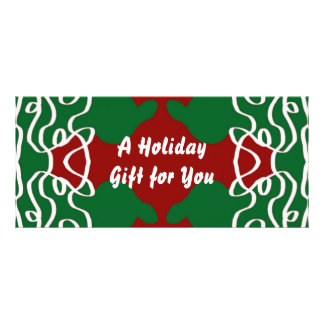Christmas Lace Pattern Rack Card