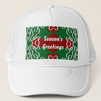Christmas Lace Pattern Trucker Hat