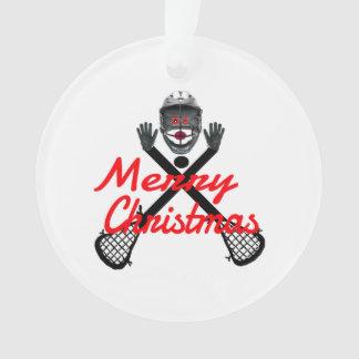 Christmas Lacrosse Cartoon Ornament