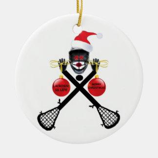 Christmas Lacrosse Christmas Tree Ornament
