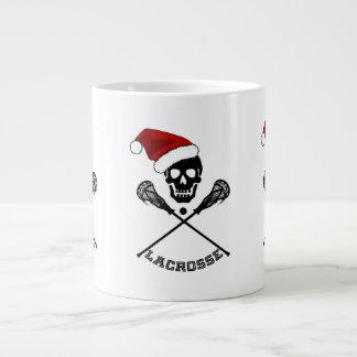 Christmas Lacrosse Sticks Large Coffee Mug