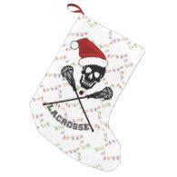 Christmas Lacrosse Sticks Small Christmas Stocking