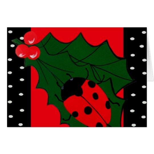 Christmas Lady-bug Card