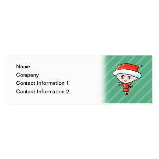 Christmas Lady Dressed as Santa Business Card Template