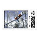 Christmas ladybirds stamp