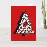Christmas Ladybug Tree Holiday Card