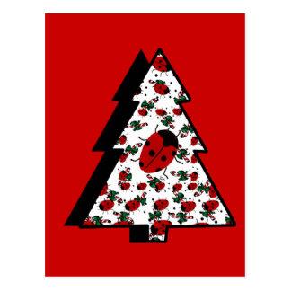 CHRISTMAS LADYBUGS POSTCARD