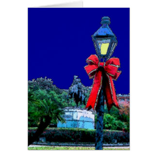 Christmas Lamp in Jackson Square Card