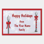 Christmas Lamp Snowflake Custom Yard Sign