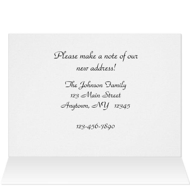 christmas change of address photo card