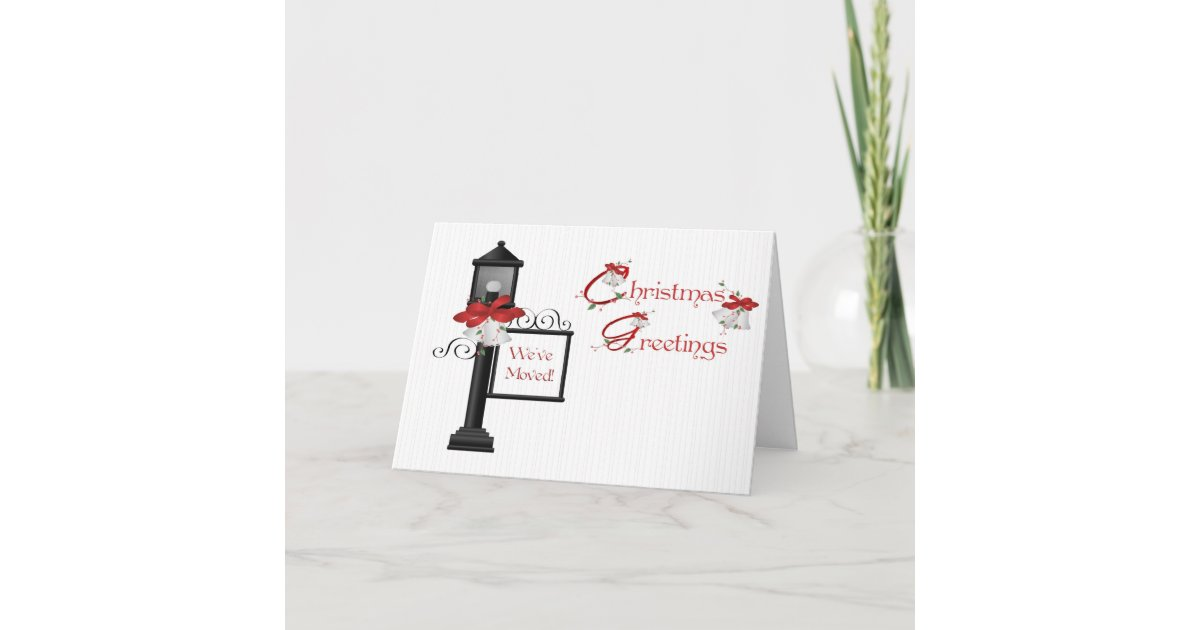 Christmas Lamppost Address Change Greeting Holiday Card | Zazzle.com