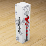 """Christmas Lamppost Custom Wine Gift Wine Box<br><div class=""""desc"""">The Christmas illustration by artist/designer Charmaine Paulson was created as a vector and completed in photo software.</div>"""