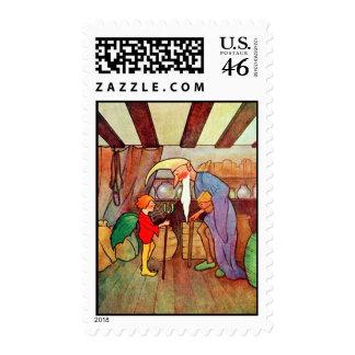 Christmas Land Vintage Christmas Postage Stamp