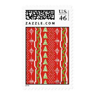 Christmas landscape postage stamp