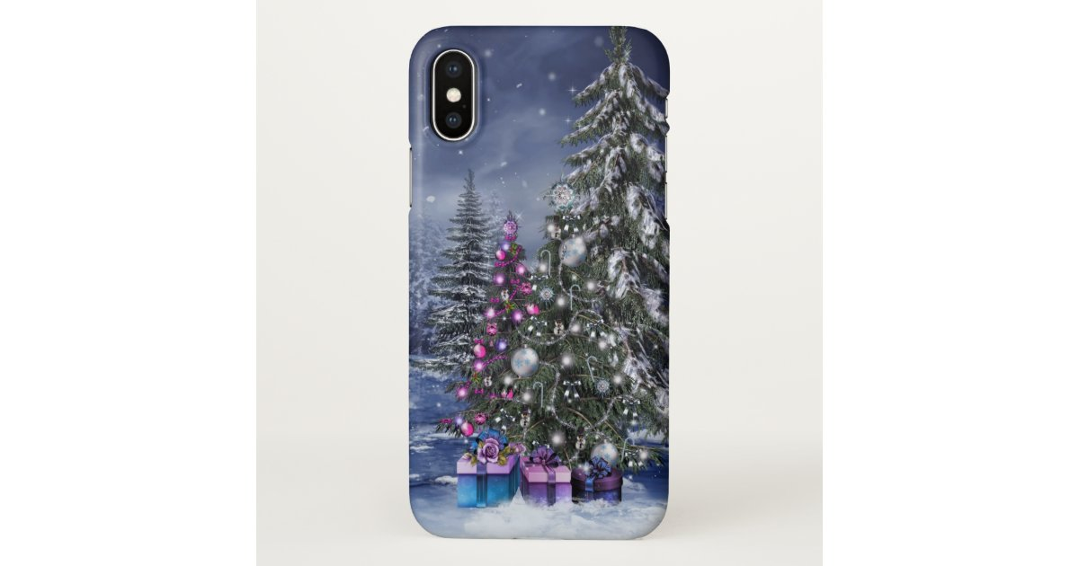 Christmas Iphone X Case.Christmas Landscape Zazzle Iphone X Case Zazzle Com