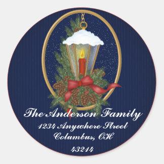 Christmas Lantern 1 - Christmas Address Labels