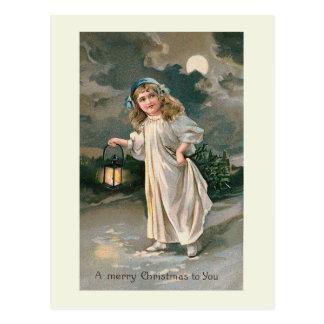 """Christmas Lantern"" Postcard"