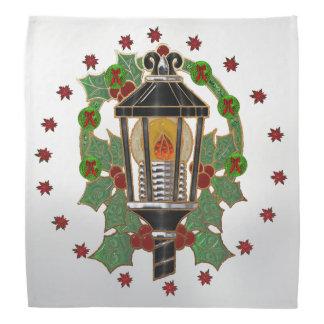 Christmas Lantern Stain Glass Art Deco Bandana