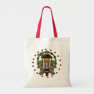 Christmas Lantern Stain Glass GIFT Tote Bag