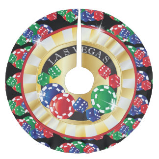 Christmas Las Vegas Style Brushed Polyester Tree Skirt