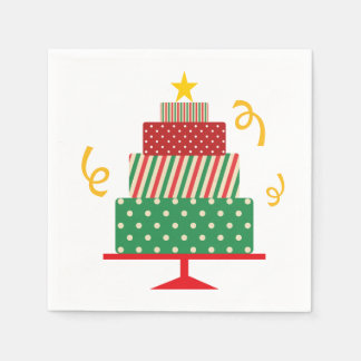 Christmas Layer Cake Paper Napkin