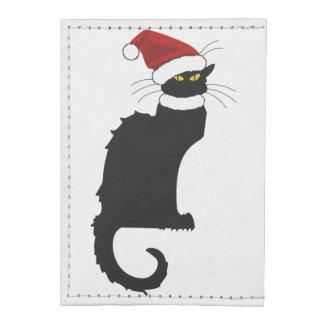 Christmas Le Chat Noir con el gorra de Santa Tarjeteros Tyvek®
