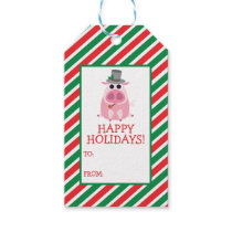 Christmas Leary the Pig Gift Tags