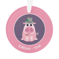 Christmas Leary the Pig Ornament