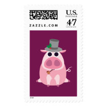 Christmas Leary the Pig Postage