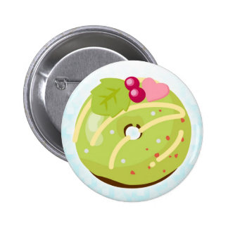 Christmas lease doughnut 2 inch round button