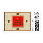 Christmas Leaves Stamps