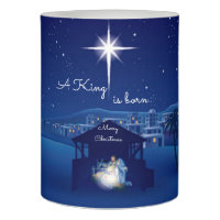 Christmas LED Candle/A King is born Flameless Candle