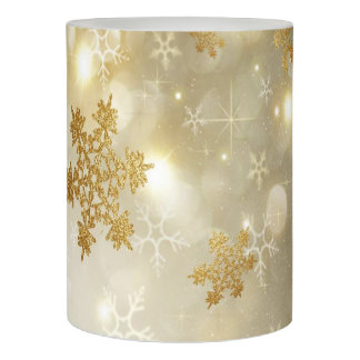 Christmas LED Candle/Gold Snow Flakes Flameless Candle