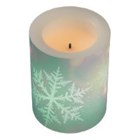 Christmas LED Candle/Snow Flakes Flameless Candle