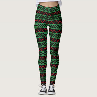 Christmas Leggings - Customizable Background Color