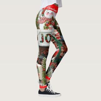 Christmas Leggings Personalize Let It Snow! S XL