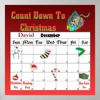Christmas Lemar Countdown To Christmas print