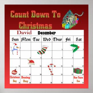 Christmas Lemar Countdown To Christmas Poster