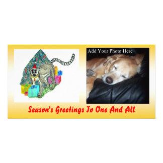 Christmas Lemur Customized Photo Card