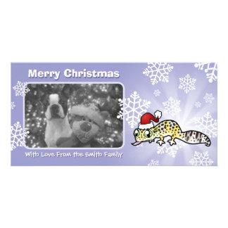Christmas Leopard Gecko Card