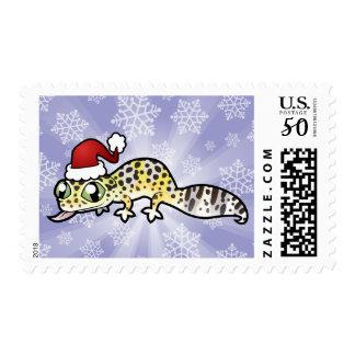 Christmas Leopard Gecko Postage