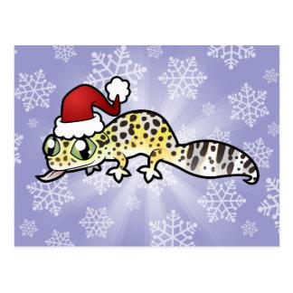 Christmas Leopard Gecko Postcard