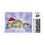 Christmas Leopard Gecko Stamp