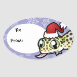 Christmas Leopard Gecko Stickers