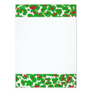 Christmas Leopard Spots Pattern Card