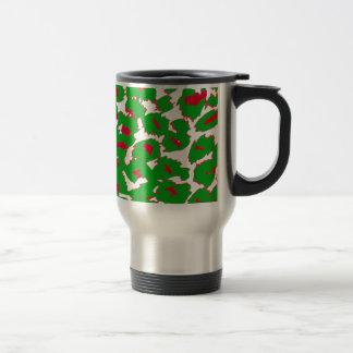 Christmas Leopard Spots Pattern Coffee Mugs