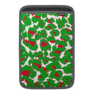 Christmas Leopard Spots Pattern MacBook Sleeve